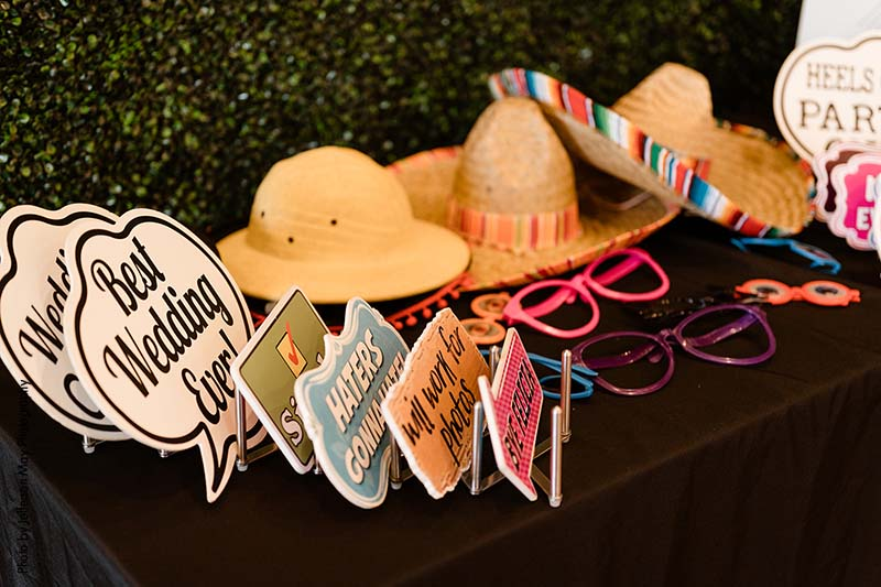 Wedding booth photo props