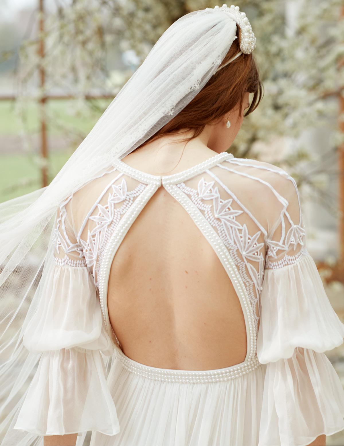 Romantic Temperley London Bridal Spring 2022 boho bridal gown