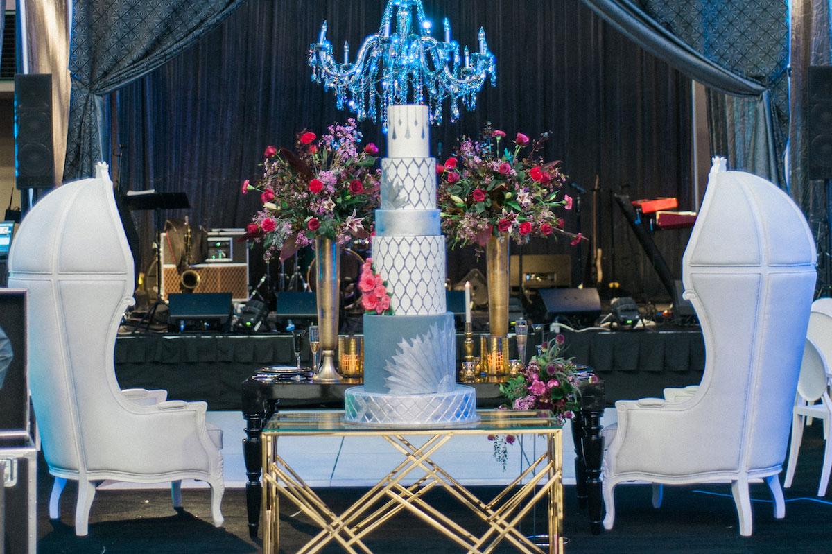 Opulent and glitzy wedding decor