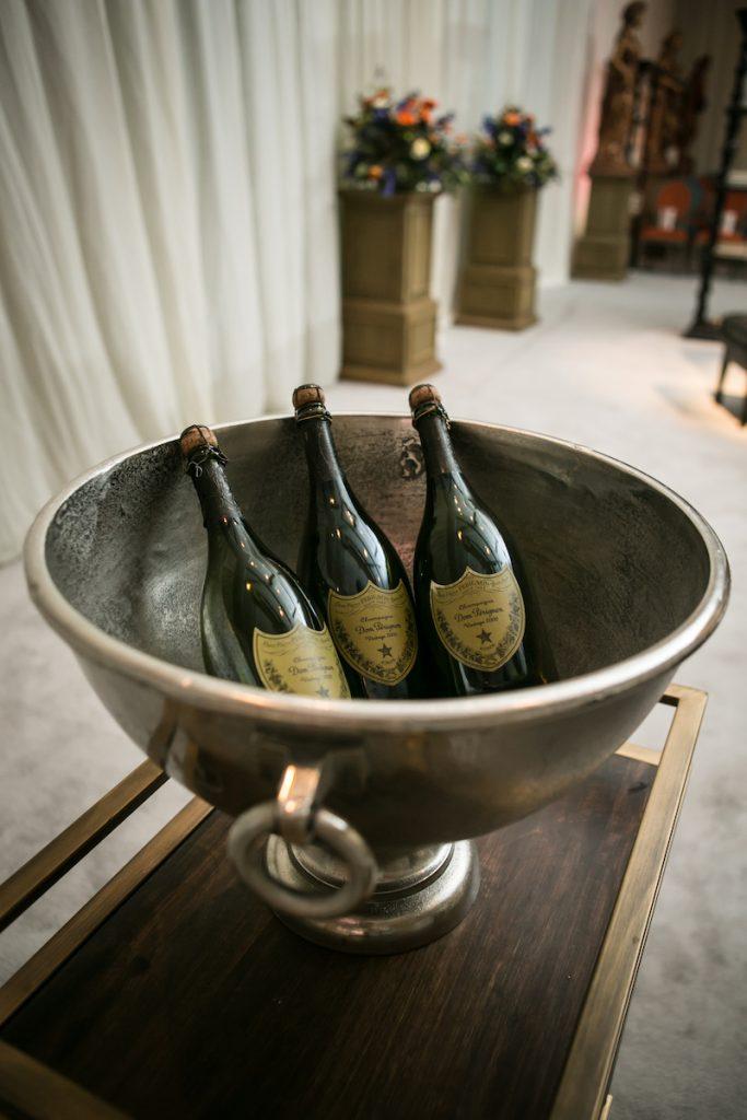 French brasserie wedding champagne bucket