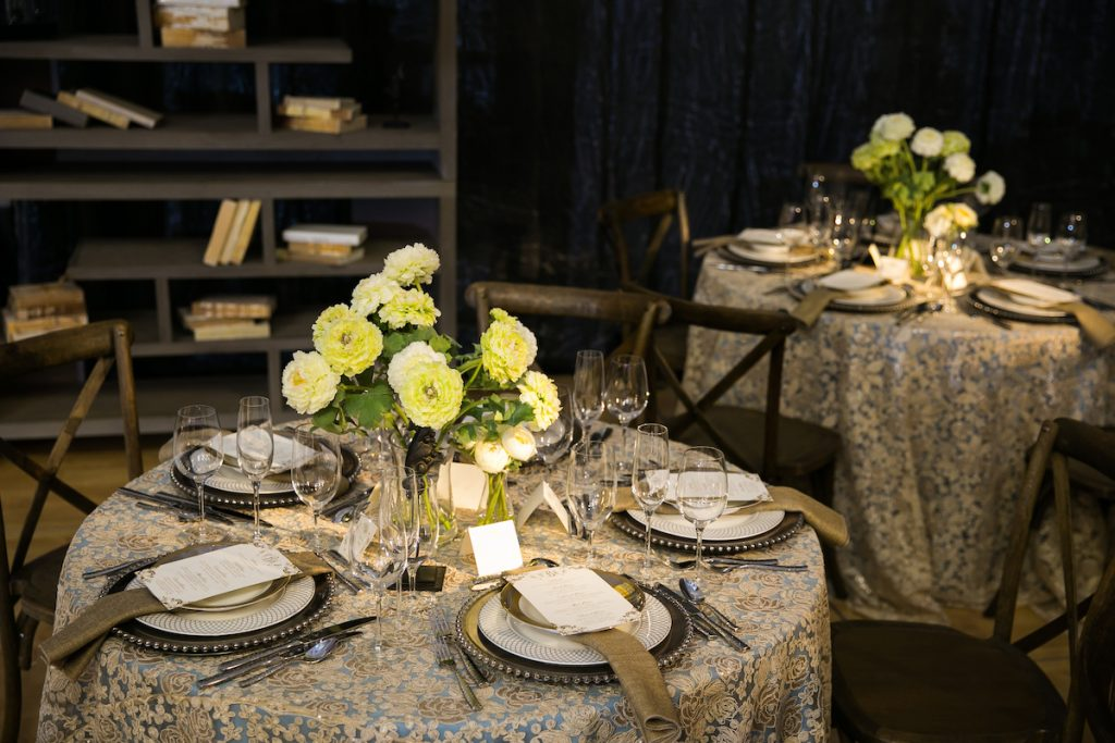 Floral baroque wedding tablecloth