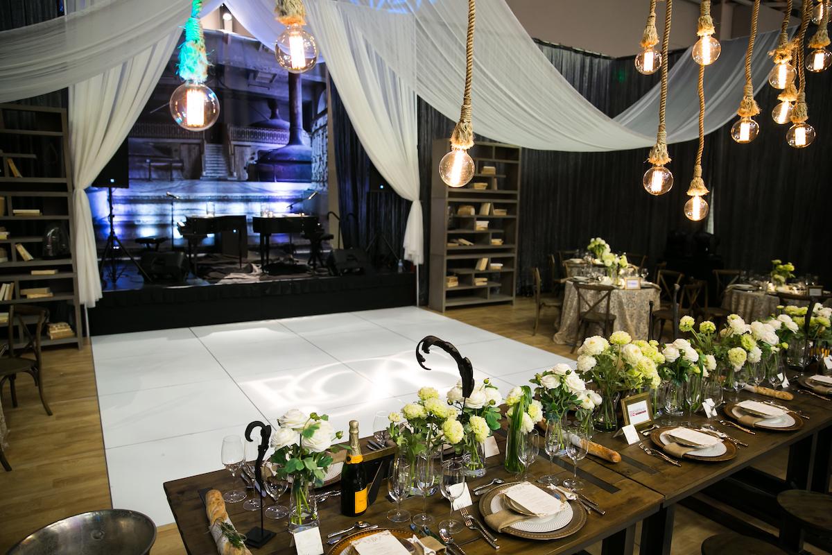 Baroque industrial wedding tabletop