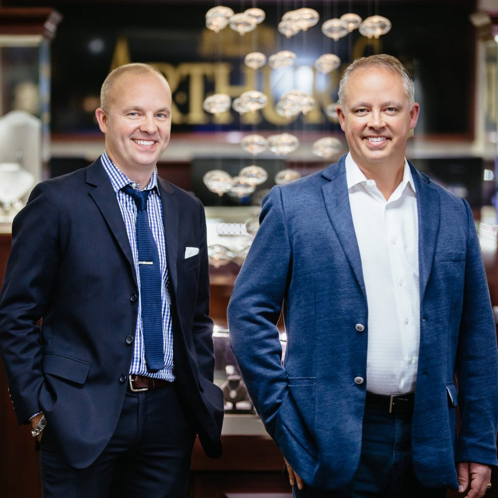 Carver and Tyler Nogai, owners of Arthur's Jewelers in Roseville, MN