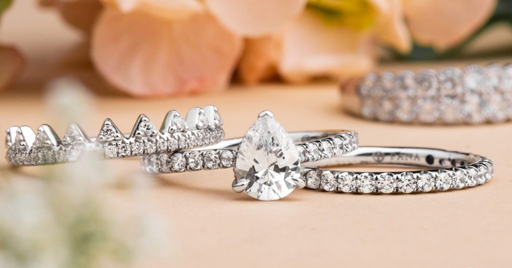 Stacked engagement ring at Arthur's Jewelers