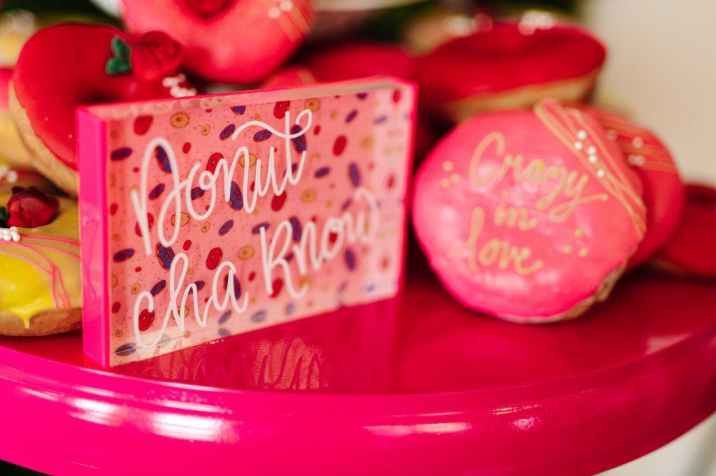 Donut table wedding sign
