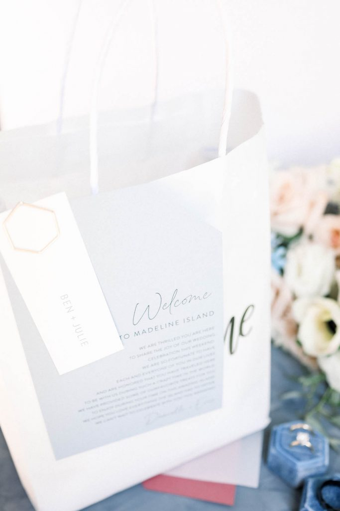 Locally-curated wedding welcome bag