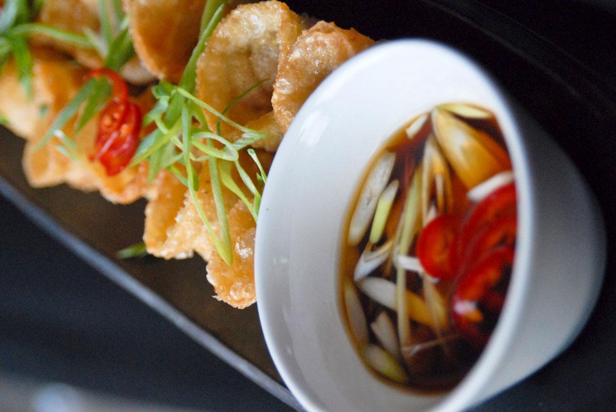 Pork dumpling wedding appetizer