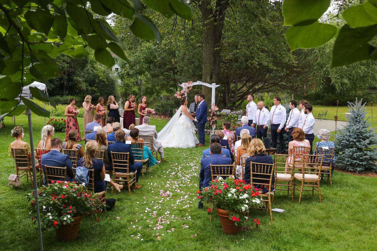 At-home summer backyard wedding in Edina, Minnesota