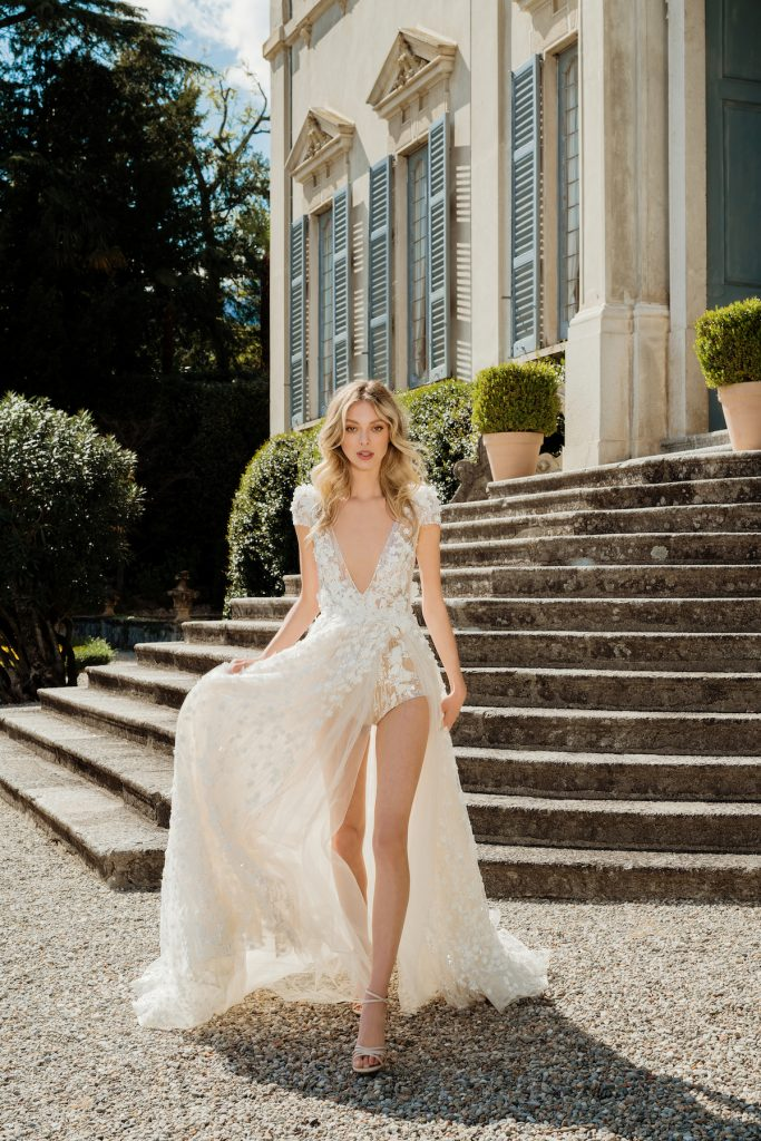 High low bridal gown