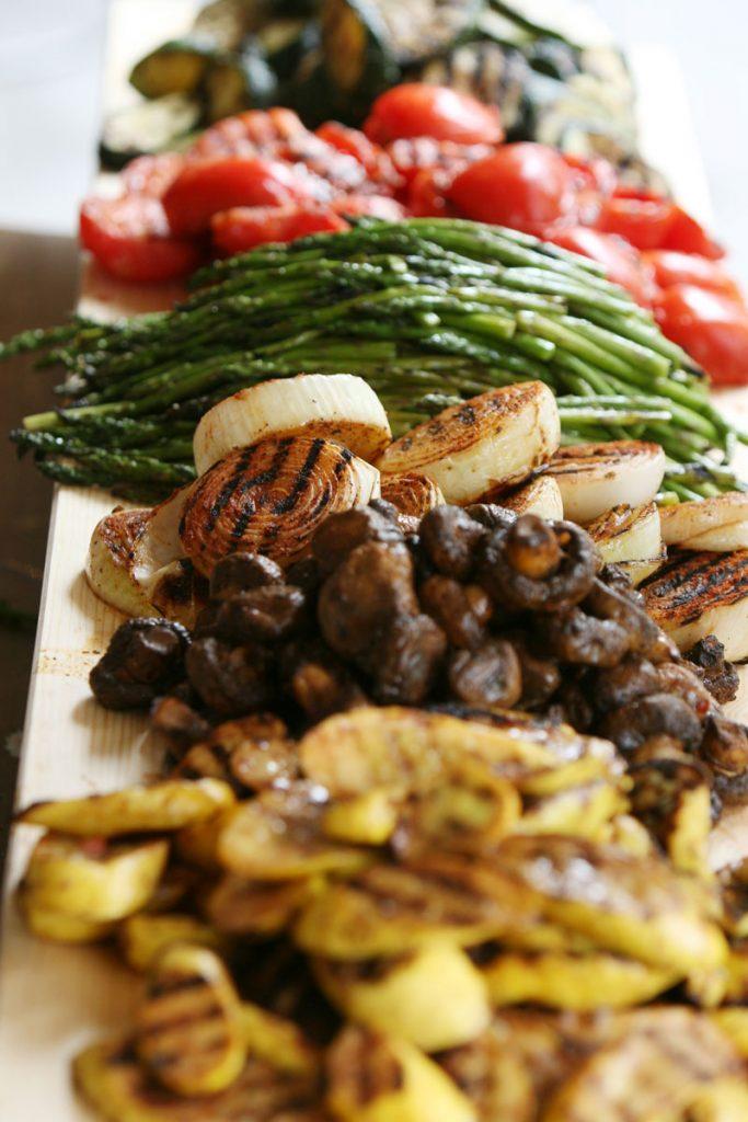 Grilled vegetable wedding appetizer