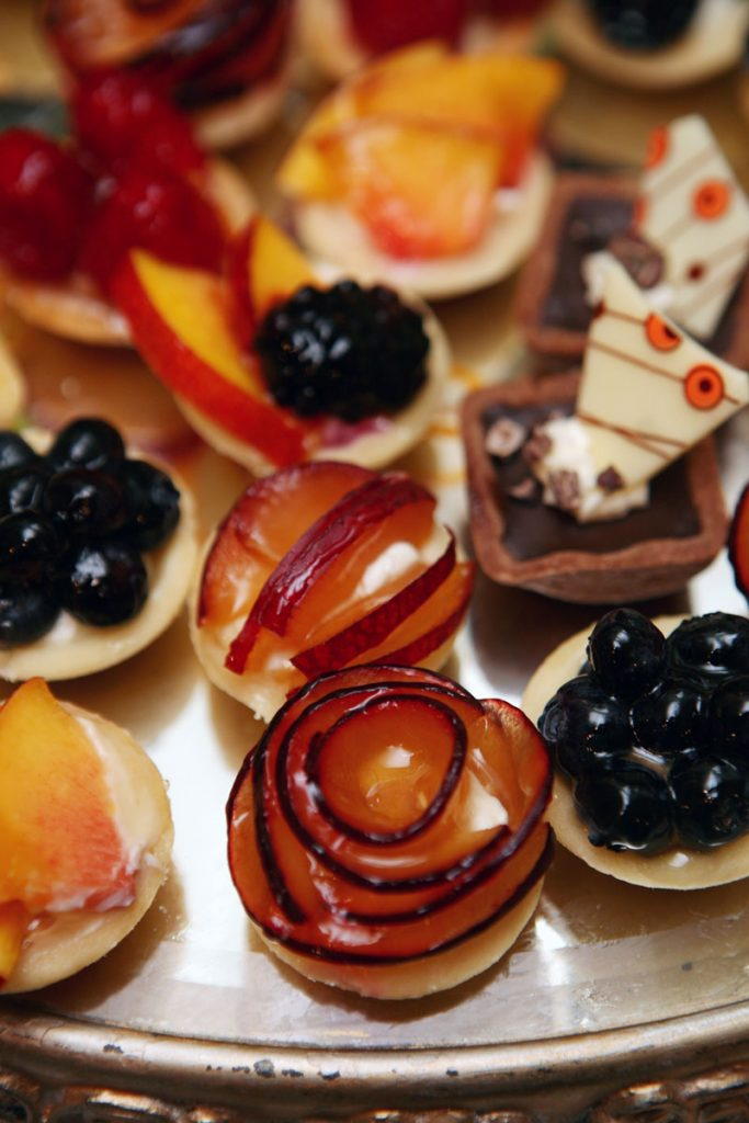 Fruit tart wedding dessert