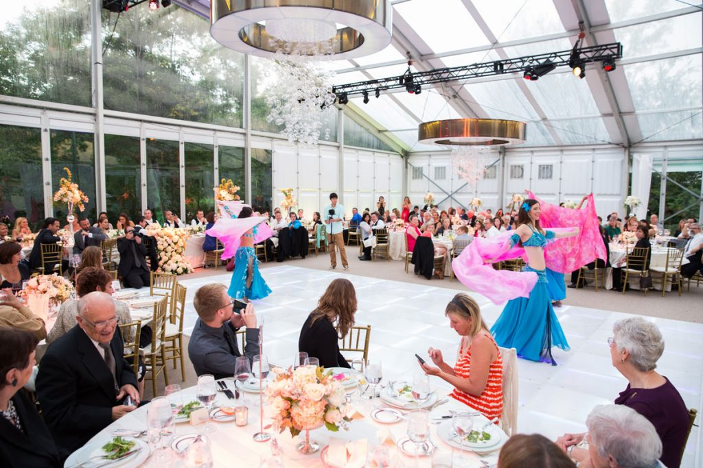 Large tent structure for wedding