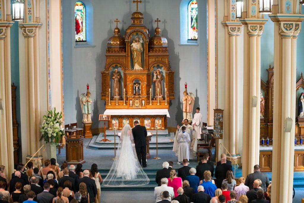 Wedding in historic Catholic Church
