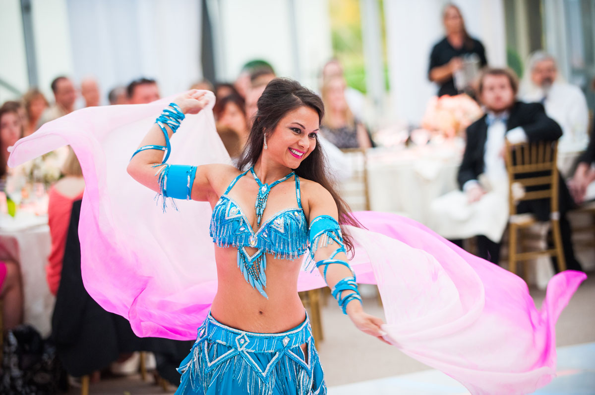 Lebanese dancers perform at wedding