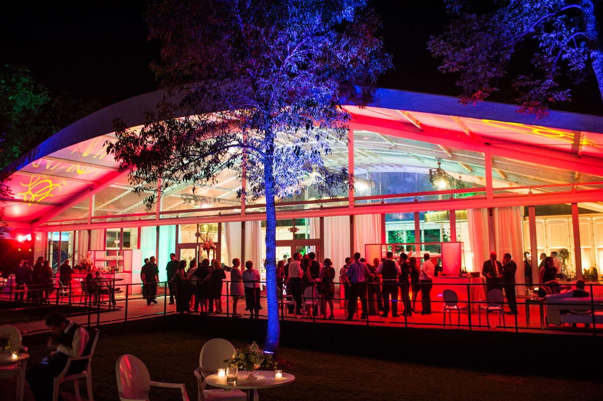 Large luxury outdoor wedding tent