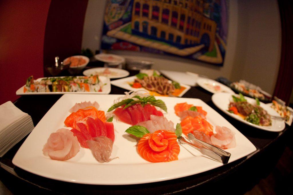Wedding sushi board