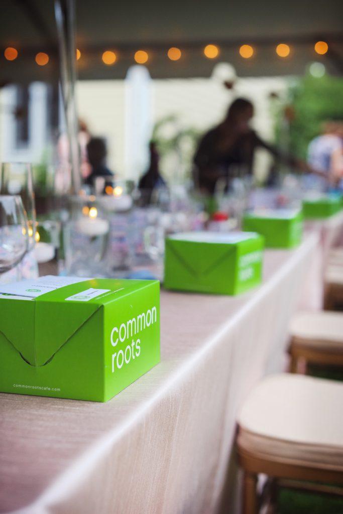 Picnic-style wedding food boxes