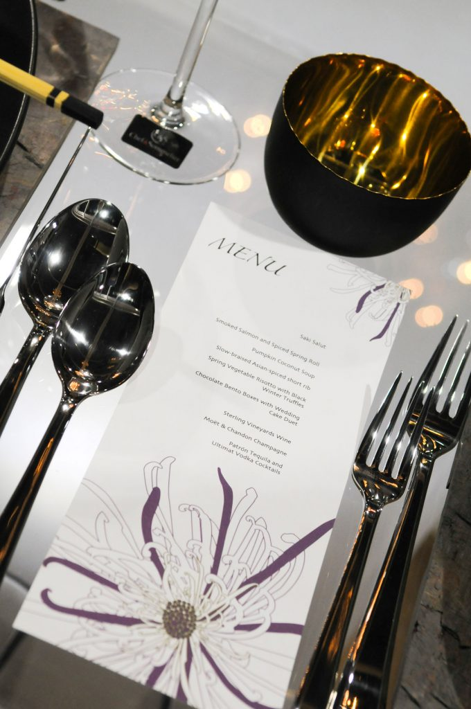 Asian-inspired wedding menu