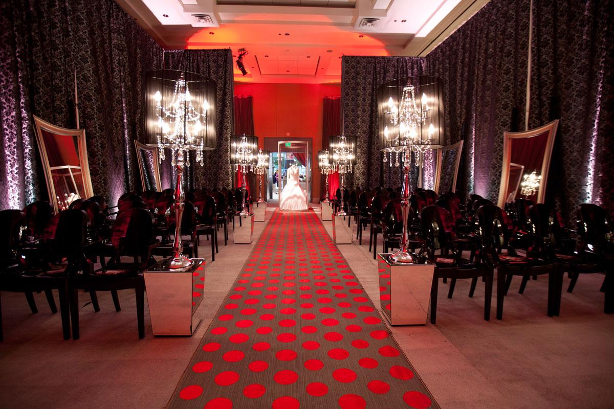 Red and black lipstick wedding theme