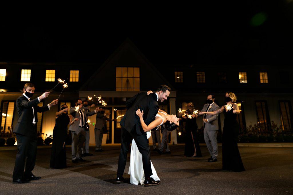 Black and white minimalist wedding in Minneapolis