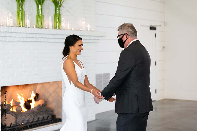 Bride and father share first look
