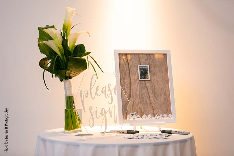 Keepsake wedding guestbook
