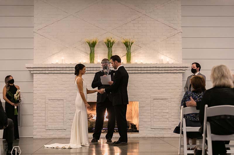 Minneapolis socially distant wedding ceremony