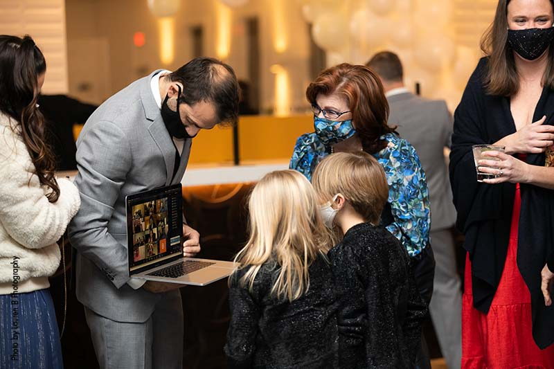 Guests join wedding on live stream