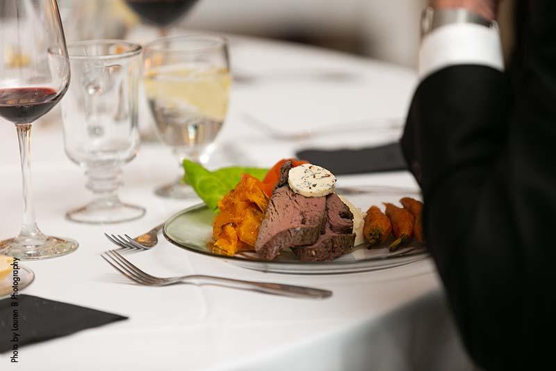 Steak wedding dinner by Deco Catering