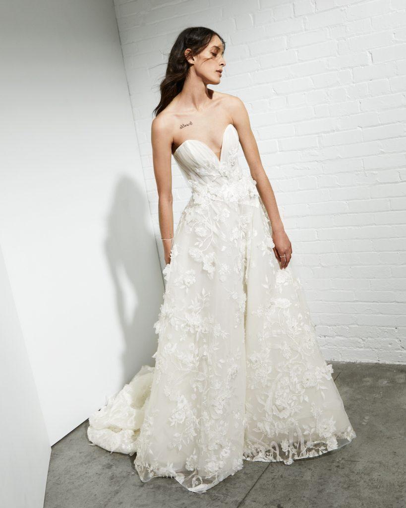 3-D embroidered wedding gown Rivini by Rita Vinieris
