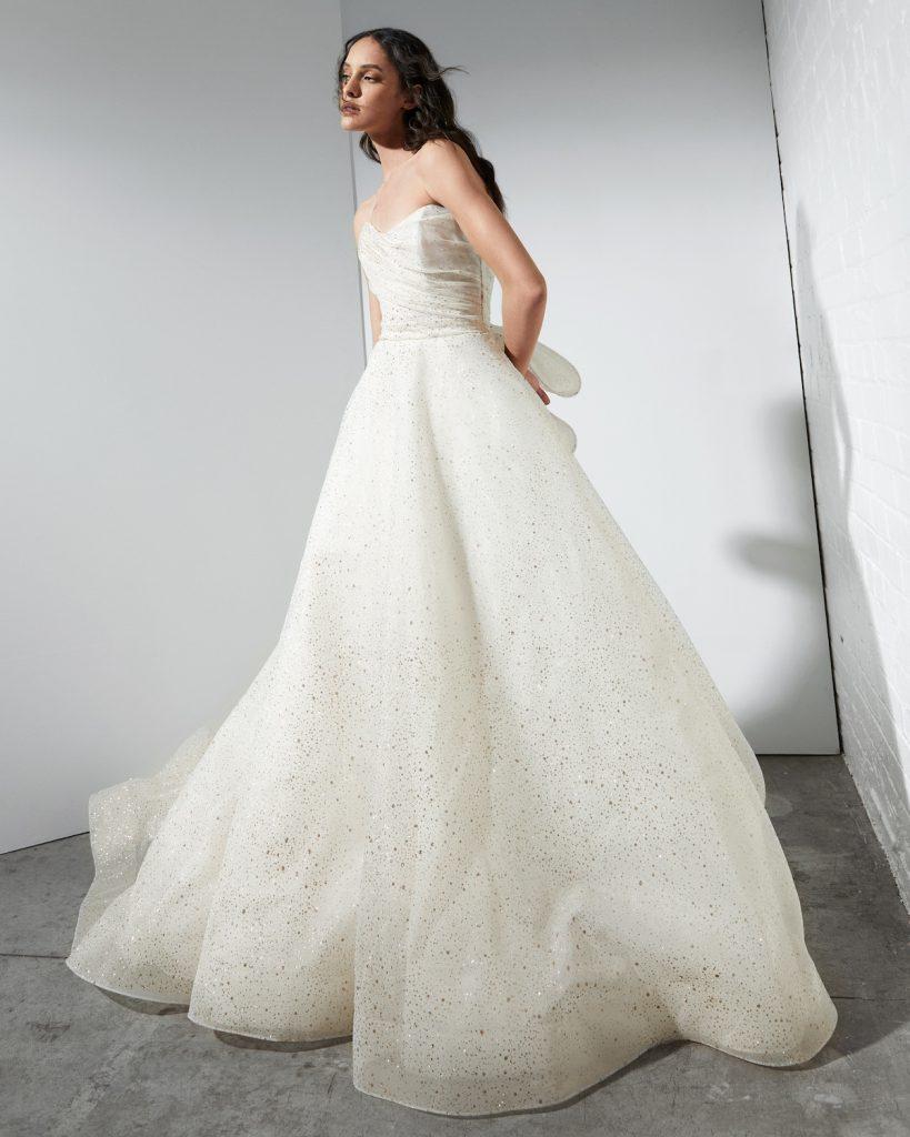 Sparkle wedding ballgown with bow