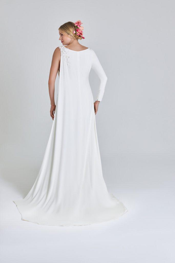 Bridal one-sleeve cape