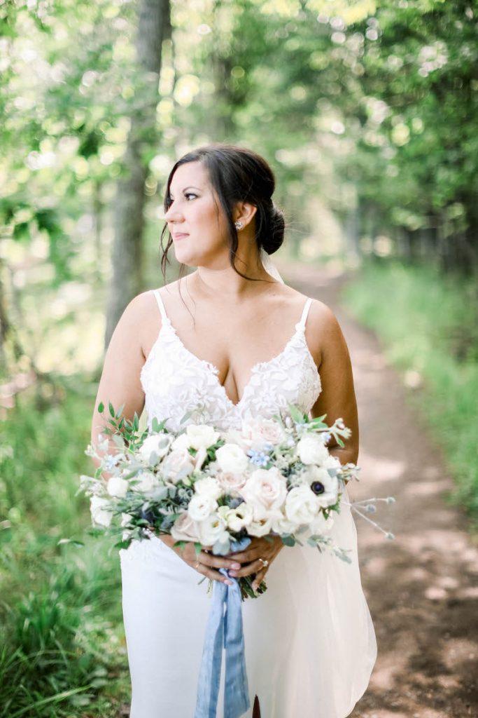 Pastel spring bridal bouquet