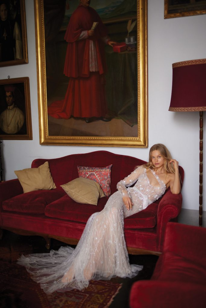 Couture tulle wedding gown by Liz Martinez