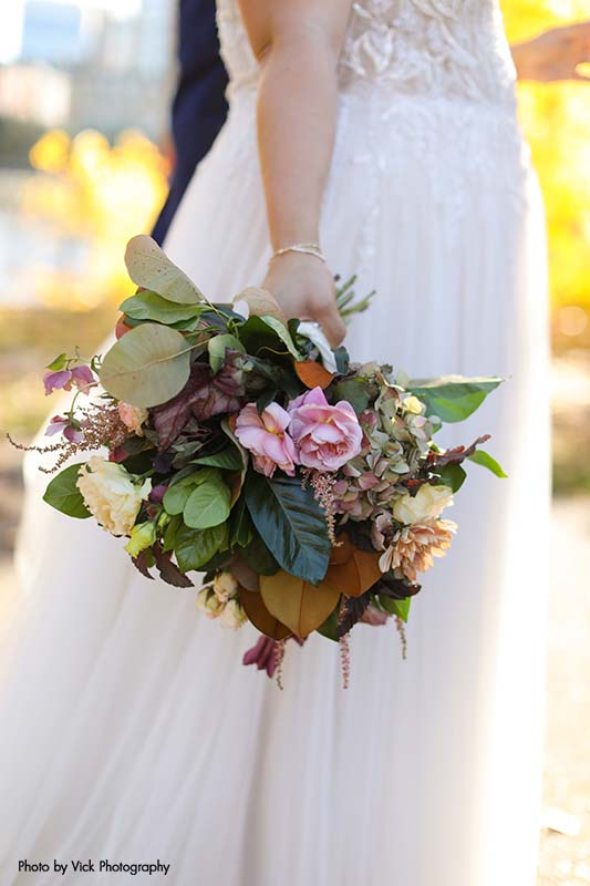 Greenery bridal bouquet for fall