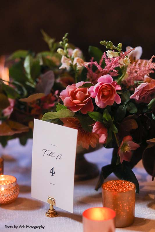 White and black wedding table numbers