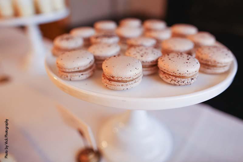 Macaroons as wedding dessert