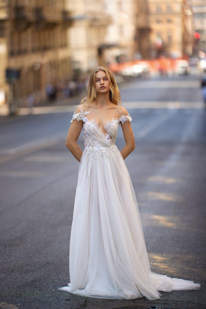 Couture wedding gown by Liz Martinez